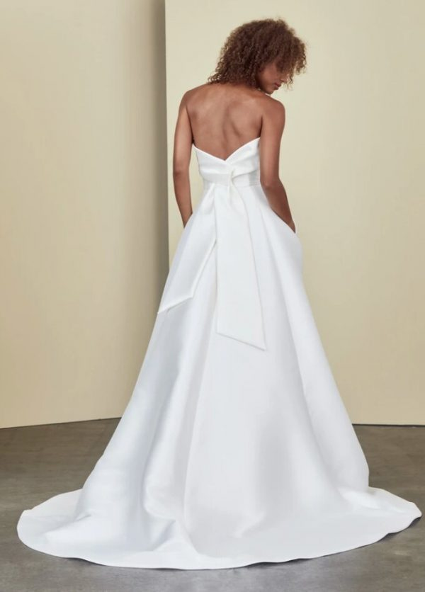 Strapless A-line Simple Wedding Dress by Nouvelle Amsale - Image 2