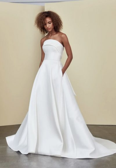 Strapless A-line Simple Wedding Dress by Nouvelle Amsale