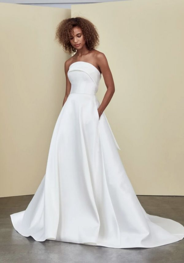 Strapless A-line Simple Wedding Dress by Nouvelle Amsale - Image 1