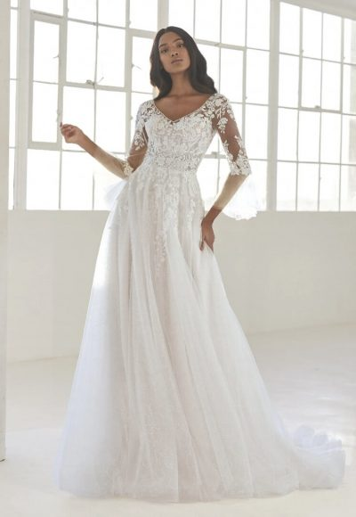 Princess Wedding Dress With V-neck by Pronovias