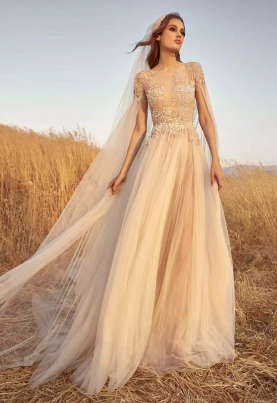 Embroidered A-line Tulle Wedding Dress by Zuhair Murad