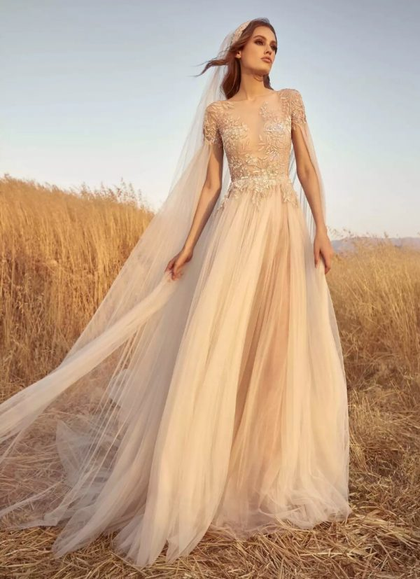 Embroidered A-line Tulle Wedding Dress by Zuhair Murad - Image 1