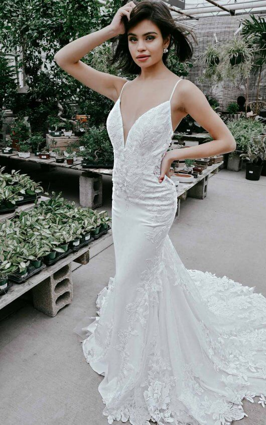 Modern And Sexy Wedding Dress With Cutouts by Essense of Australia - Image 1