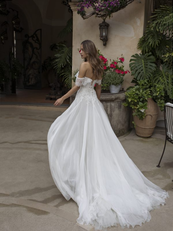 A-line Lace Off The Shoulder Wedding Dress by Maison Signore - Image 2