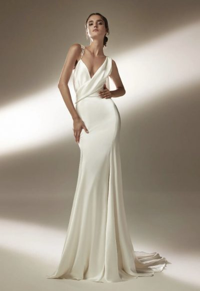 Mermaid Wedding Dress With Asymmetric Neckline And Tattoo-effect Back by Pronovias
