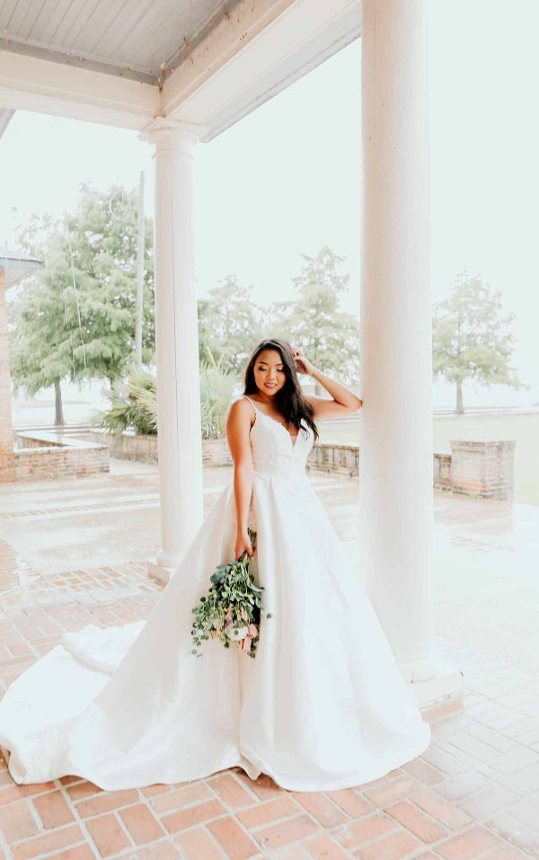 Modern Ball Gown With Matte Lace by Stella York - Image 1
