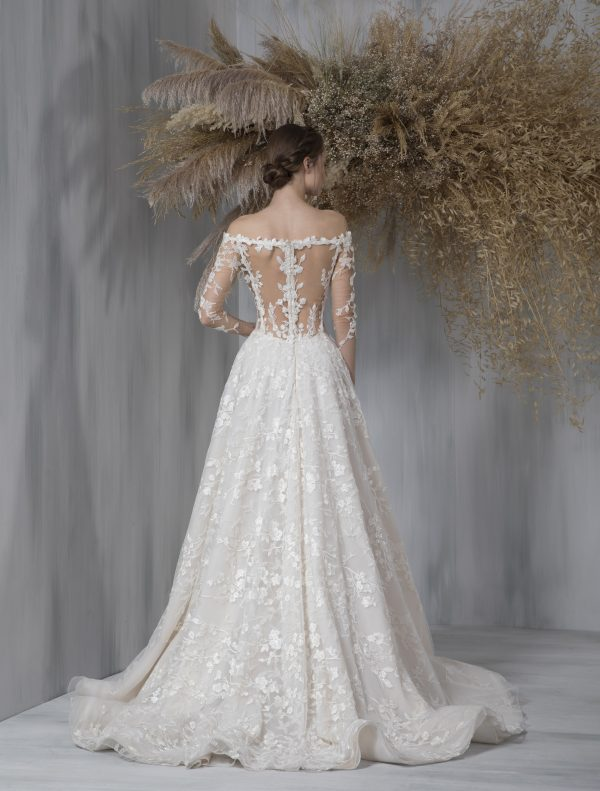 Long Sleeve Embroidered Ball Gown Wedding Dress by Tony Ward - Image 2