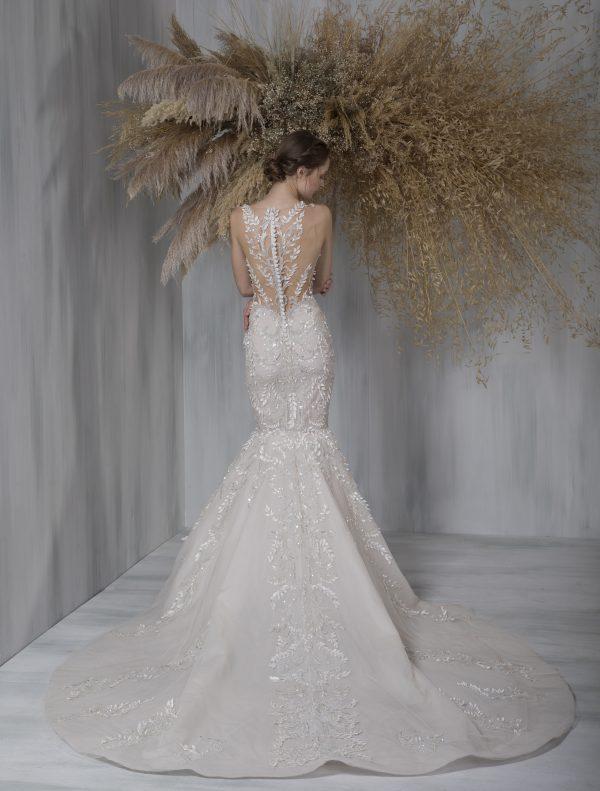Sleeveless V-neck Illusion Neckline Mermaid Wedding Dress by Tony Ward - Image 2