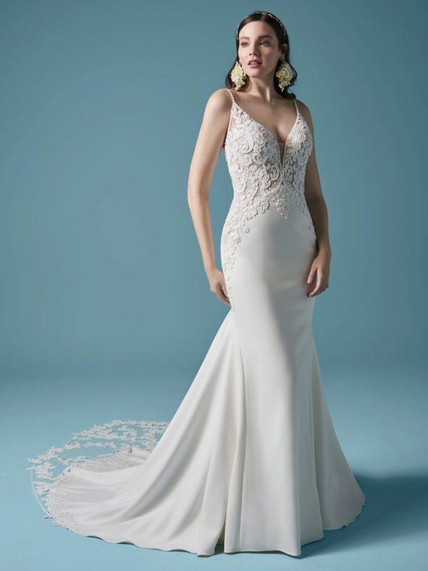 Long Sleeve Mermaid Wedding Dress by Maggie Sottero - Image 1