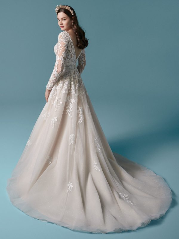 Illusion Sleeve A-line Wedding Dress by Maggie Sottero - Image 2
