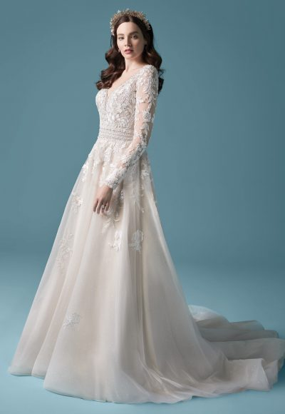 Illusion Sleeve A-line Wedding Dress by Maggie Sottero