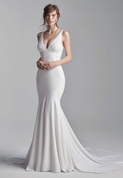Simple Halter Back Mermaid Wedding Dress by Sottero and Midgley