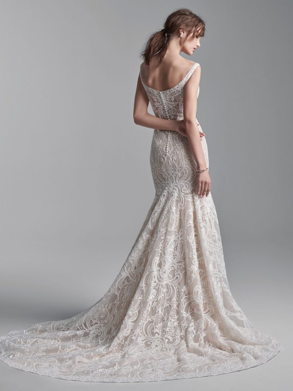 Sleeveless Beaded Lace Mermaid Wedding Dress by Maggie Sottero - Image 2
