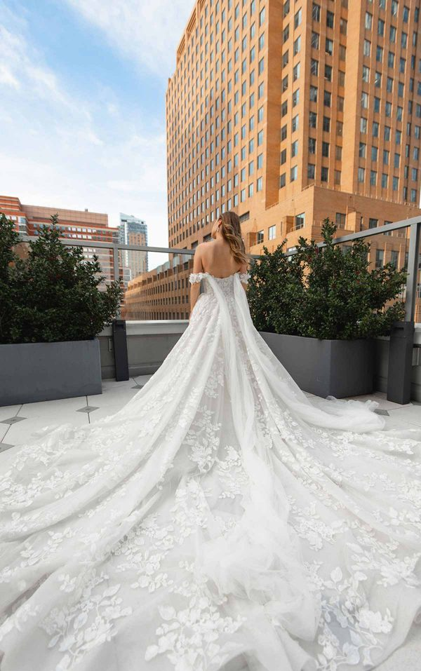Off The Shoulder High Volume Ball Gown Wedding Dress by Martina Liana Luxe - Image 2