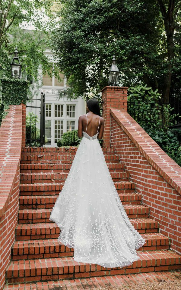 Simple And Casual Wedding Dress With 3d Details by Martina Liana - Image 2