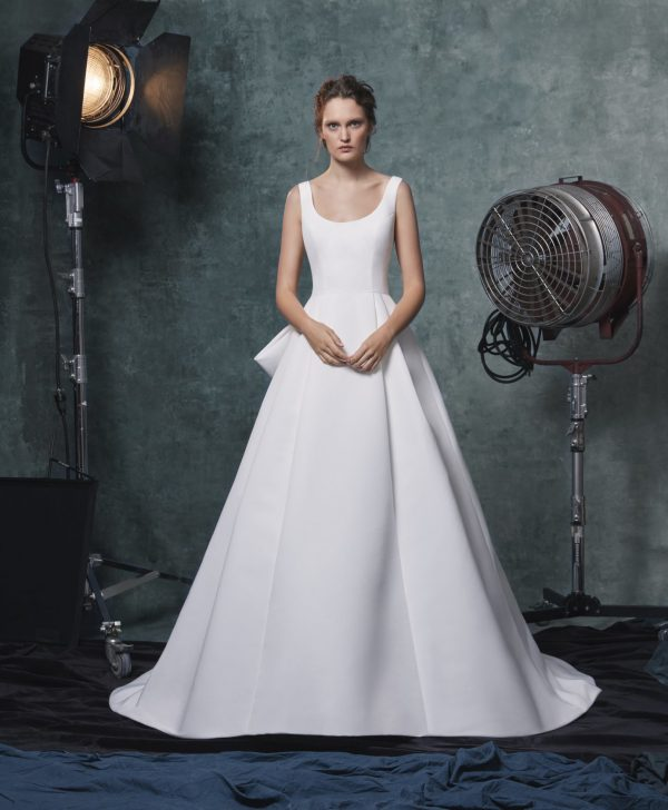 Simple Scoop Neckline Ball Gown Wedding Dress by Sareh Nouri - Image 1