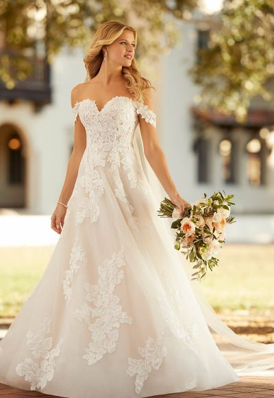 Garden-inspired Off The Shoulder Wedding Dress by Stella York