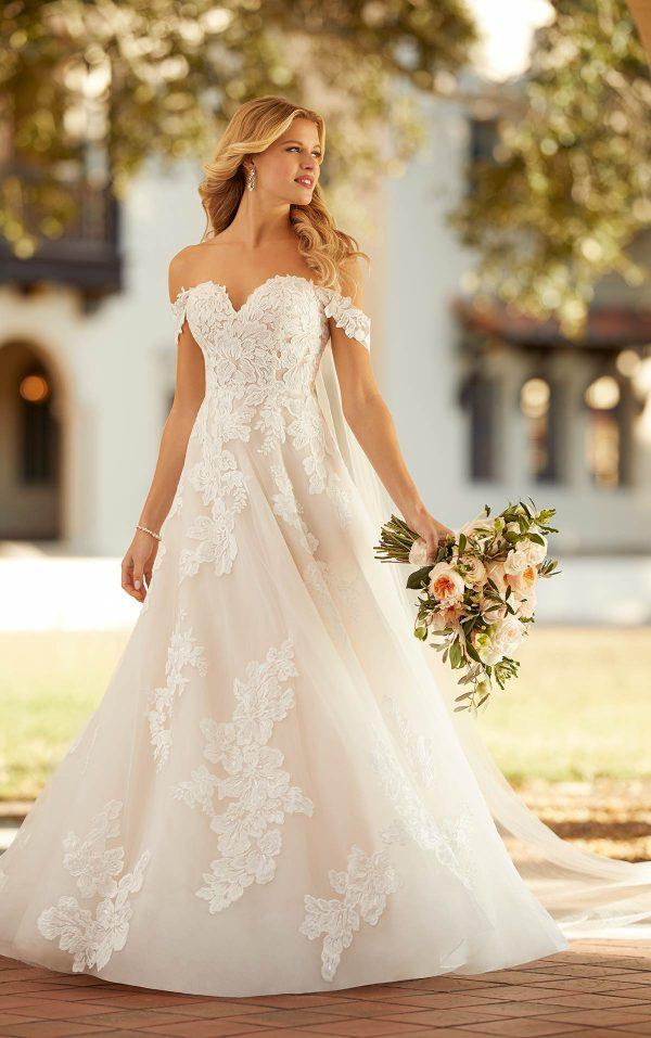 Garden-inspired Off The Shoulder Wedding Dress by Stella York - Image 1