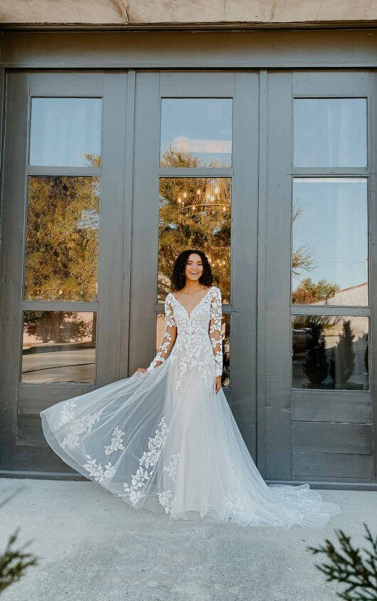 Long Sleeve Wedding Dress With Statement Back by Stella York - Image 1