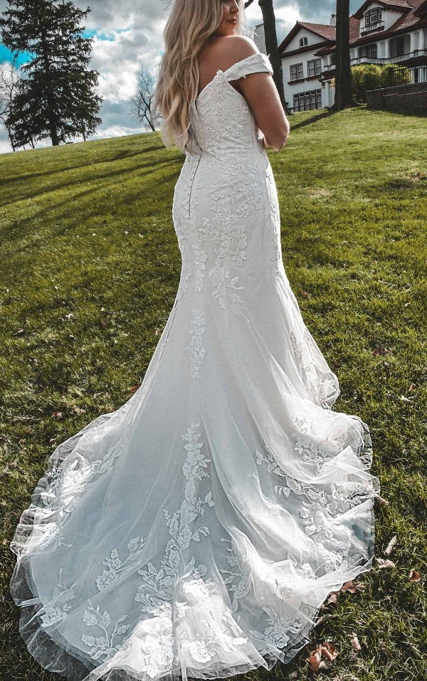 Off-Shoulder Wedding Dress With Shimmer by Stella York - Image 2