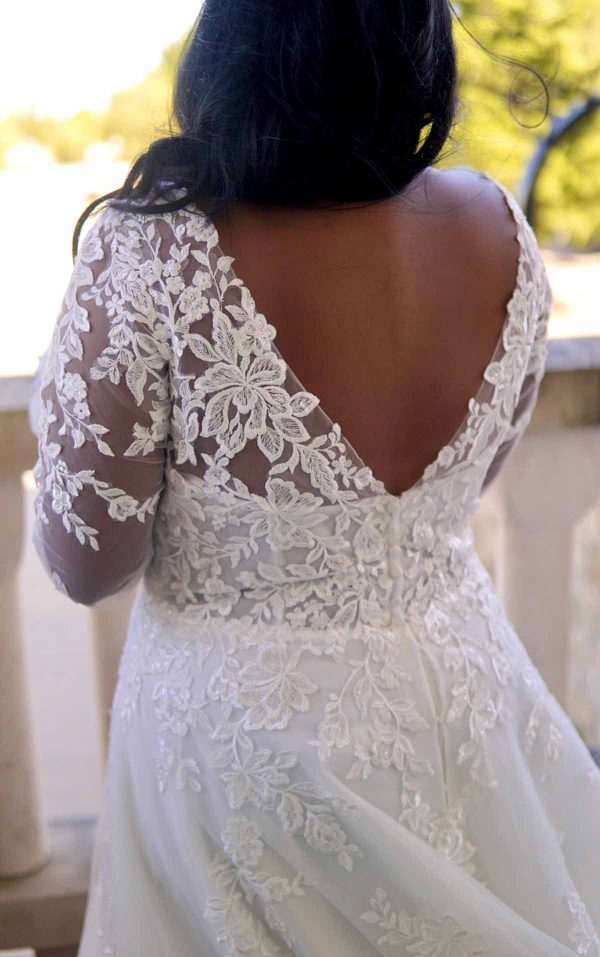 Romantic Lace Plus Size Wedding Dress With Long Sleeves by Stella York - Image 2