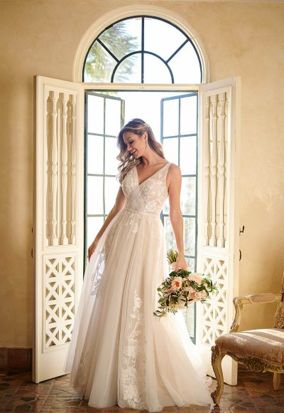 Sheer Tulle And Lace Wedding Gown by Stella York