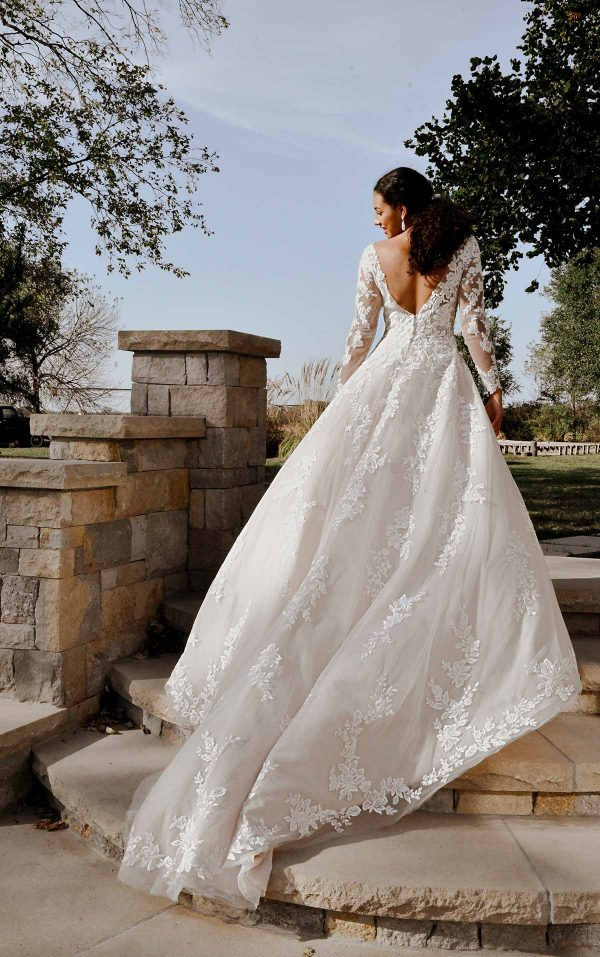 Romantic Lace Wedding Dress With Long Sleeves by Stella York - Image 2