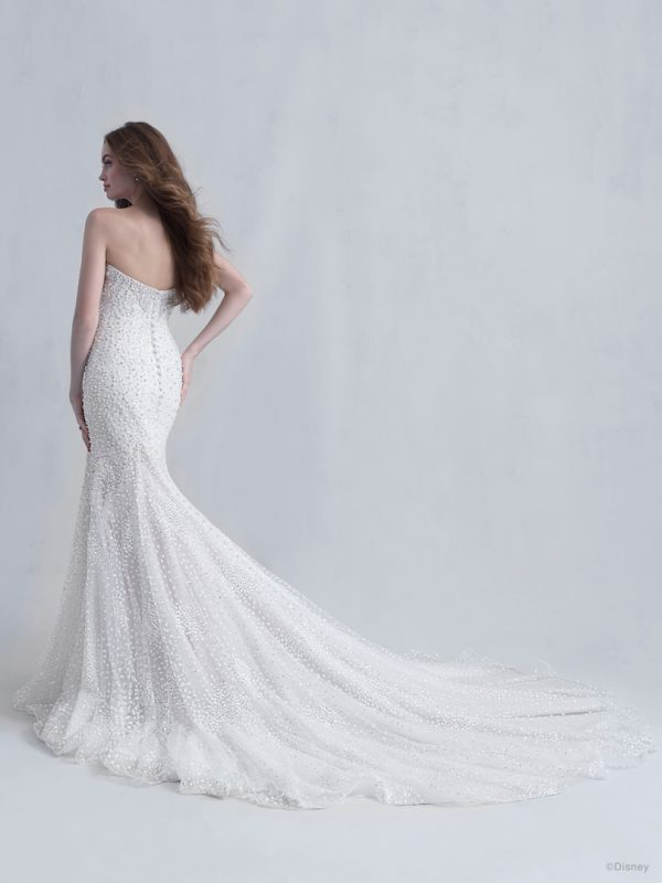 Strapless Sweetheart Neckline Mermaid Wedding Dress with Beads, Pearls, and Sparkled Tulle by Disney Fairy Tale Weddings Platinum Collection - Image 2