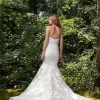 Strapless Embroidered Lace Mermaid Wedding Dress by Anne Barge - Image 2
