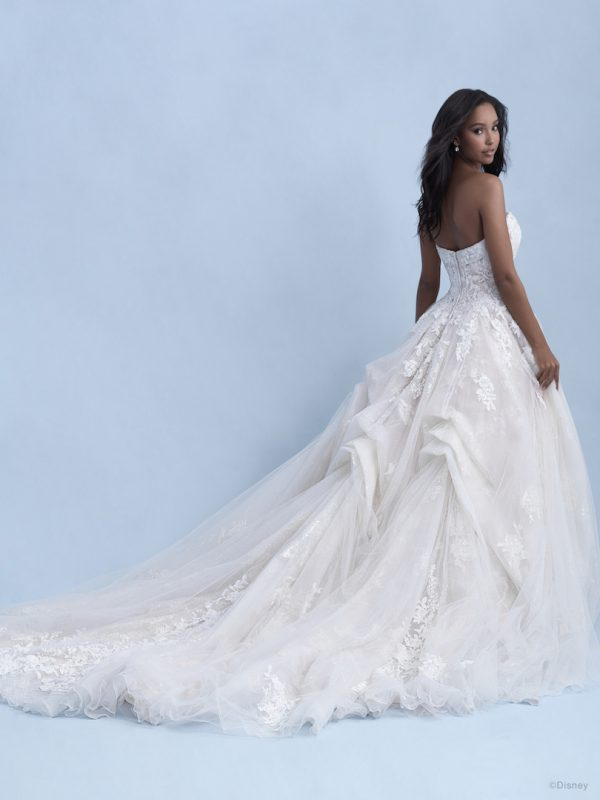 Strapless Ball Gown Wedding Dress With Tulle Skirt Beading Throughout by Disney Fairy Tale Weddings Collection - Image 2