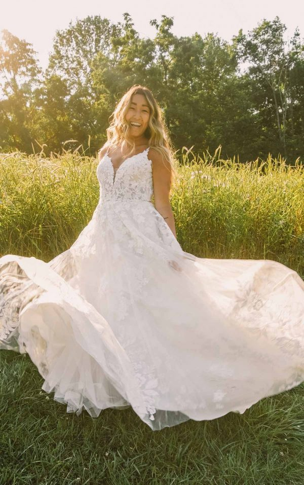 Classic A-line Plus Size Wedding Dress With Sparkling Lace by Essense of Australia - Image 1