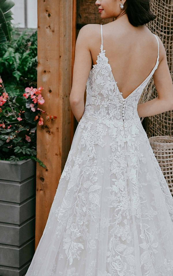 Classic A-line Wedding Dress With Sparkling Lace by Essense of Australia - Image 2