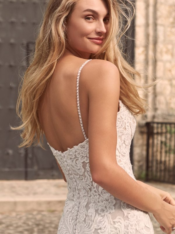 Sparkly Lace Fit-and-flare Bridal Dress Wedding Dress by Maggie Sottero - Image 2