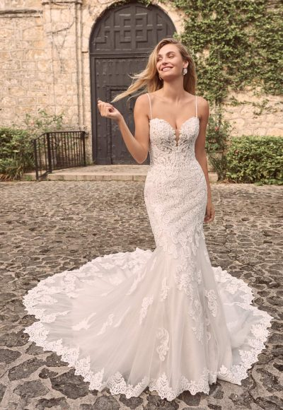 Sparkly Lace Fit-and-flare Bridal Dress Wedding Dress by Maggie Sottero