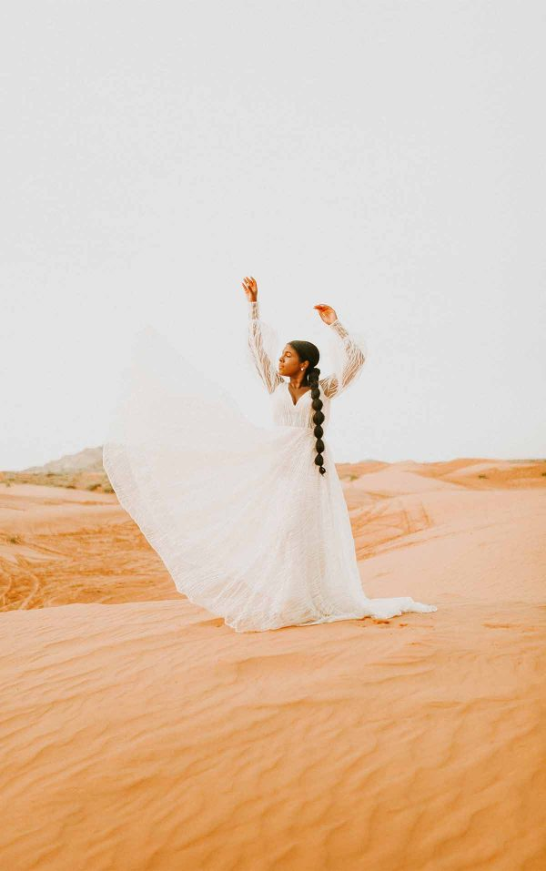 Sparkling Boho-Inspired Wedding Dress With Bell Sleeves by Martina Liana - Image 1