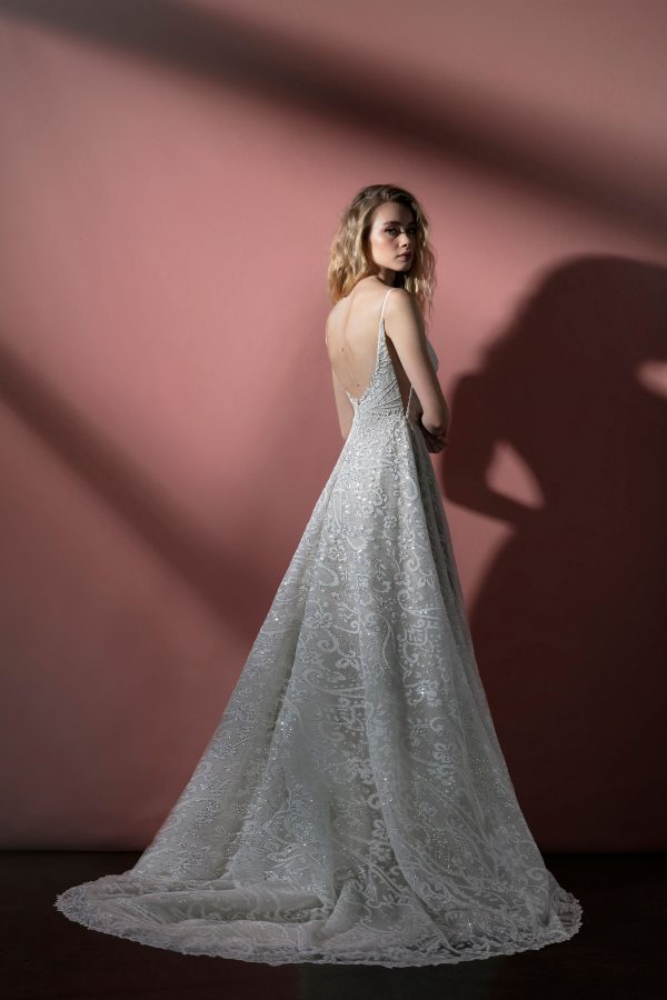 Spaghetti Strap Sparkle Tulle A-line Wedding Dress by BLUSH by Hayley Paige - Image 2