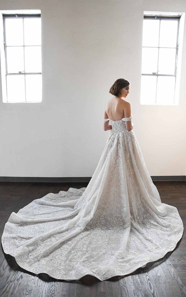 Classic And Romantic Off-Shoulder Ball Gown With Pockets by Martina Liana Luxe - Image 2