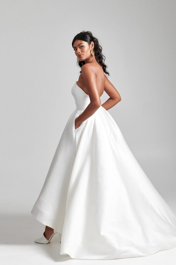 Strapless Hi-low Ball Gown Wedding Dress by Rebecca Schoneveld - Image 2