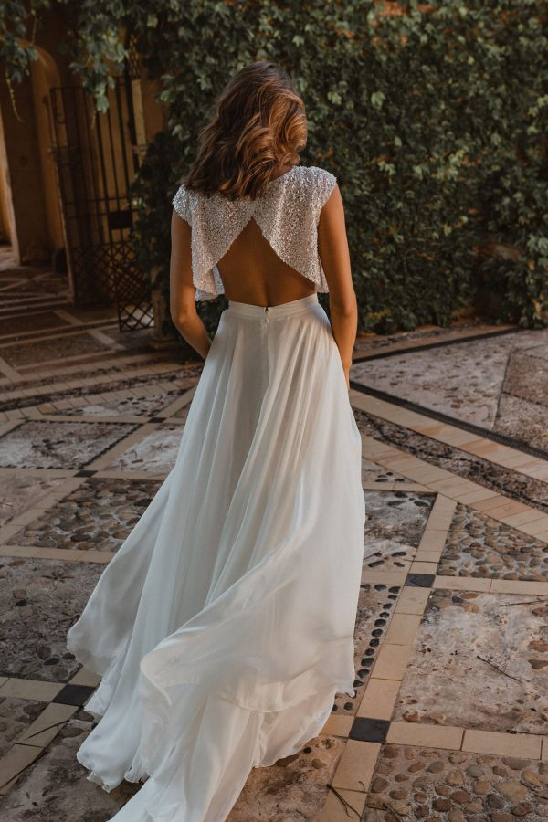 A-line Silk Chiffon Skirt by Anna Campbell - Image 2