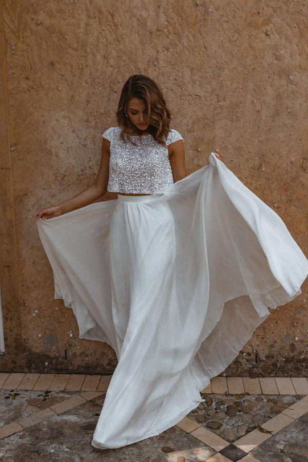 A-line Silk Chiffon Skirt by Anna Campbell - Image 1