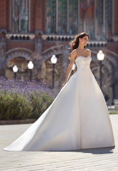 Strapless Sweetheart Neckline Ball Gown Mikado Wedding Dress by Pronovias x Kleinfeld