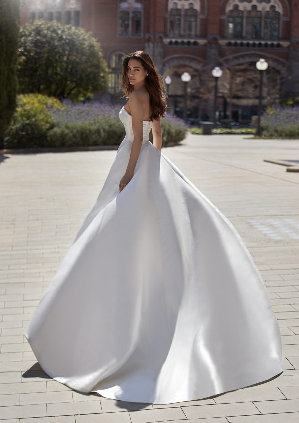 Strapless Sweetheart Neckline Ball Gown Mikado Wedding Dress by Pronovias x Kleinfeld - Image 2