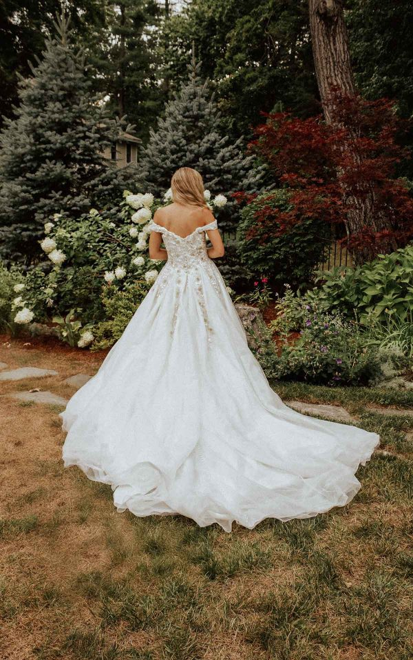Sparkling Off The Shoulder Ball Gown With Extra Volume by Essense of Australia - Image 2