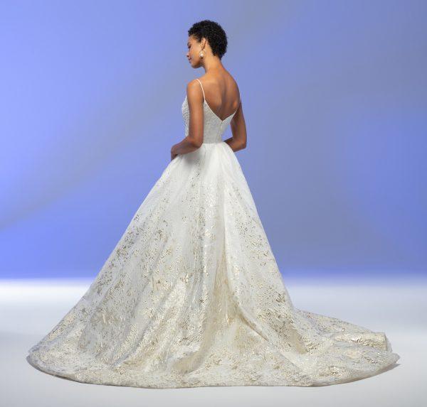Spaghetti Strap Sweetheart Neckline Organza Ball Gown Wedding Dress by Lazaro - Image 2