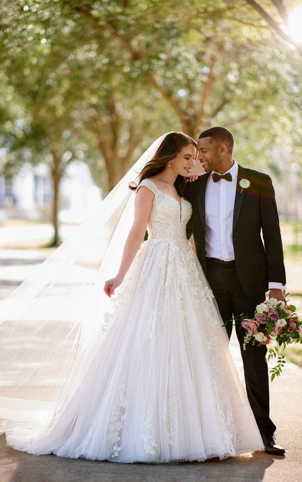 CLASSIC BALLGOWN WEDDING DRESS WITH GLITTER TULLE by Martina Liana - Image 1