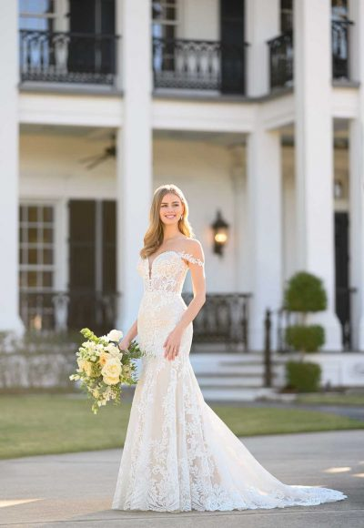 Modern Corset-Inspired Wedding Gown by Martina Liana