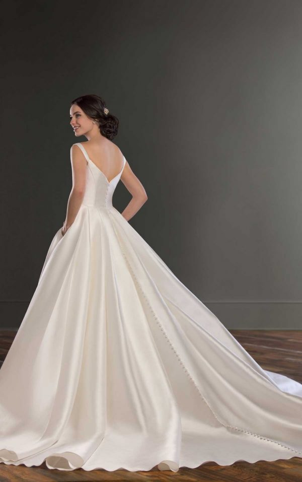 Modern Off The Shoulder Wedding Gown by Martina Liana - Image 2