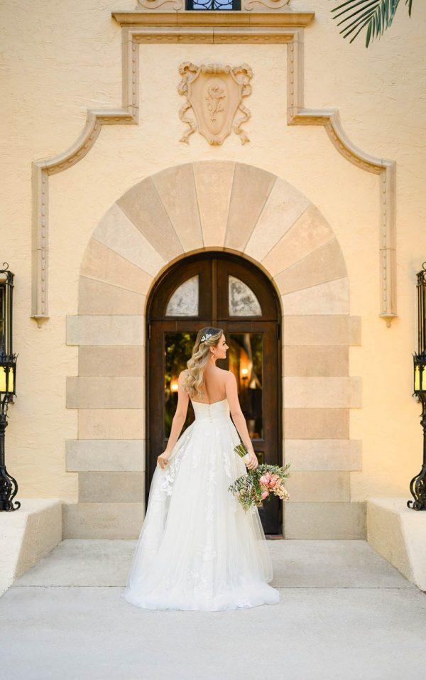 Shimmering Floral Ballgown Wedding Dress by Stella York - Image 2