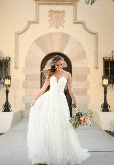 Shimmering Floral Ballgown Wedding Dress by Stella York