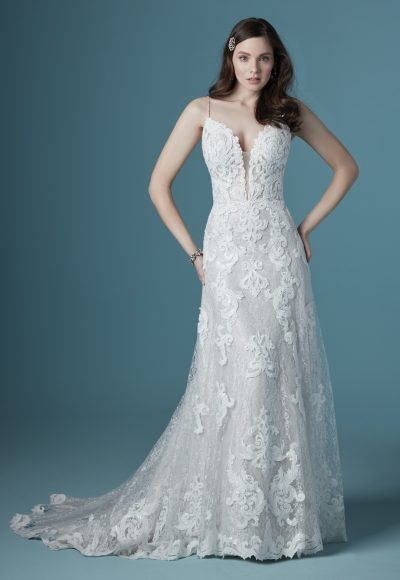 Flattering Lace A-line Wedding Dress To Show Off Your Impeccable Taste by Maggie Sottero
